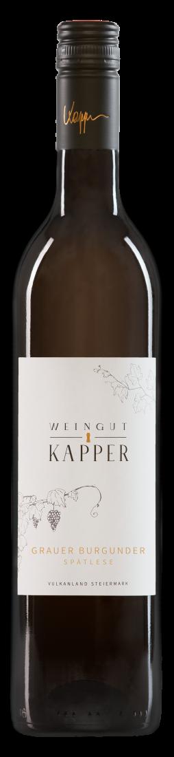 Weingut Kapper Grauburgunder Spätlese Dessertwein süß üppig